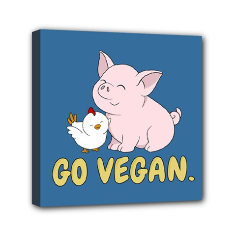Go Vegan   Cute Pig And Chicken Canvas Travel Bag