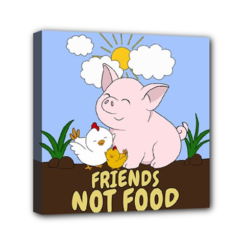 Friends Not Food   Cute Pig And Chicken Canvas Travel Bag