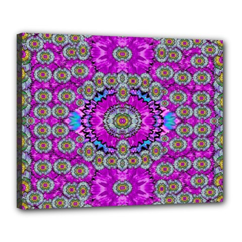 Spring Time In Colors And Decorative Fantasy Bloom Canvas 20  X 16