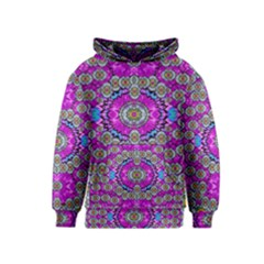 Spring Time In Colors And Decorative Fantasy Bloom Kids  Pullover Hoodie
