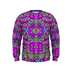 Spring Time In Colors And Decorative Fantasy Bloom Kids  Sweatshirt