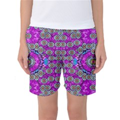 Spring Time In Colors And Decorative Fantasy Bloom Women s Basketball Shorts