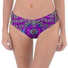 Spring Time In Colors And Decorative Fantasy Bloom Reversible Classic Bikini Bottoms
