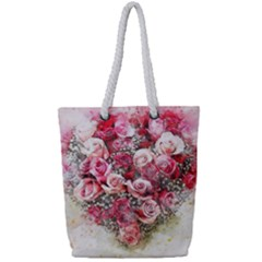 Flowers 2548756 1920 Full Print Rope Handle Tote (small)