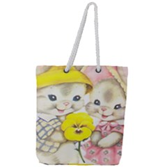 Rabbits 1731749 1920 Full Print Rope Handle Tote (large)