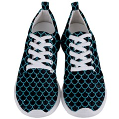 Scales1 Black Marble & Turquoise Glitter (r) Men s Lightweight Sports Shoes