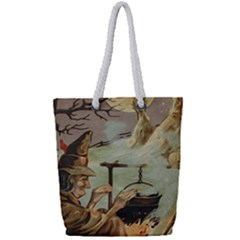 Witch 1461958 1920 Full Print Rope Handle Tote (small)