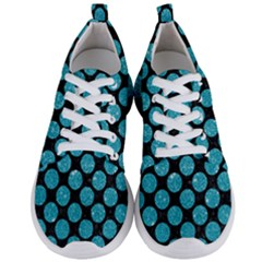 Circles2 Black Marble & Turquoise Glitter (r) Men s Lightweight Sports Shoes