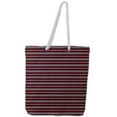 Indian Stripes Full Print Rope Handle Tote (large)