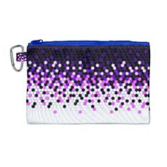 Flat Tech Camouflage Reverse Purple Canvas Cosmetic Bag (large)
