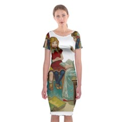 Angel 1347118 1920 Classic Short Sleeve Midi Dress