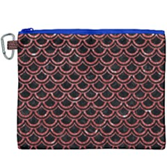 Scales2 Black Marble & Red Glitter (r) Canvas Cosmetic Bag (xxxl)