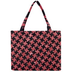 Houndstooth2 Black Marble & Red Glitterhoundstooth2 Black Marble & Red Glitter Mini Tote Bag