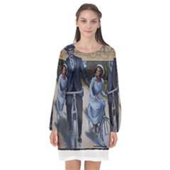 Bicycle 1763283 1280 Long Sleeve Chiffon Shift Dress