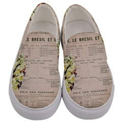 Letter Floral Men s Canvas Slip Ons