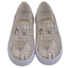 Vintage 979513 1280 Kids  Canvas Slip Ons