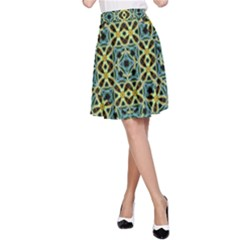 Arabesque Seamless Pattern A Line Skirt