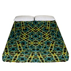 Arabesque Seamless Pattern Fitted Sheet (california King Size)