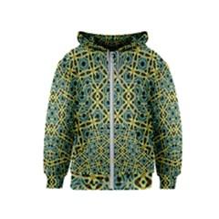 Arabesque Seamless Pattern Kids  Zipper Hoodie