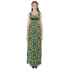 Arabesque Seamless Pattern Empire Waist Maxi Dress
