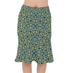 Arabesque Seamless Pattern Mermaid Skirt