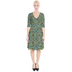 Arabesque Seamless Pattern Wrap Up Cocktail Dress