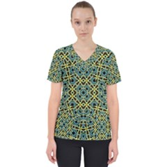 Arabesque Seamless Pattern Scrub Top