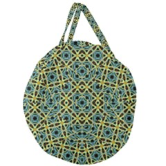 Arabesque Seamless Pattern Giant Round Zipper Tote