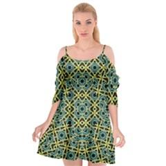 Arabesque Seamless Pattern Cutout Spaghetti Strap Chiffon Dress