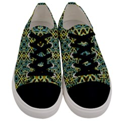 Arabesque Seamless Pattern Men s Low Top Canvas Sneakers