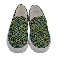 Arabesque Seamless Pattern Women s Canvas Slip Ons