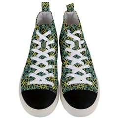 Arabesque Seamless Pattern Men s Mid Top Canvas Sneakers