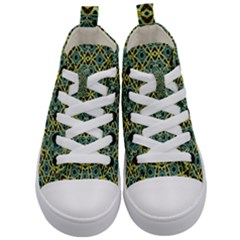 Arabesque Seamless Pattern Kid s Mid Top Canvas Sneakers