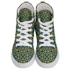 Arabesque Seamless Pattern Women s Hi Top Skate Sneakers