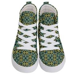 Arabesque Seamless Pattern Kid s Hi Top Skate Sneakers