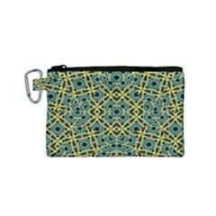 Arabesque Seamless Pattern Canvas Cosmetic Bag (small)