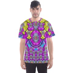 Fantasy Bloom In Spring Time Lively Colors Men s Sports Mesh Tee