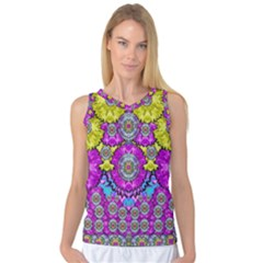 Fantasy Bloom In Spring Time Lively Colors Women s Basketball Tank Top