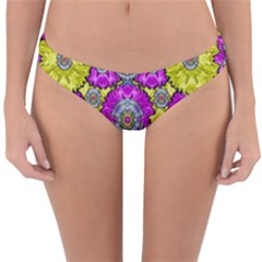 Fantasy Bloom In Spring Time Lively Colors Reversible Hipster Bikini Bottoms