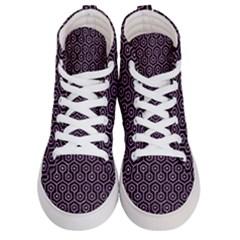 Hexagon1 Black Marble & Purple Glitter (r) Men s Hi Top Skate Sneakers