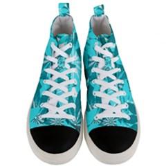 Leaves Pattern Men s Mid Top Canvas Sneakers