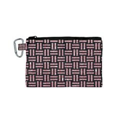 Woven1 Black Marble & Pink Glitter (r) Canvas Cosmetic Bag (small)