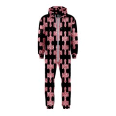 Puzzle1 Black Marble & Pink Glitter Hooded Jumpsuit (kids)