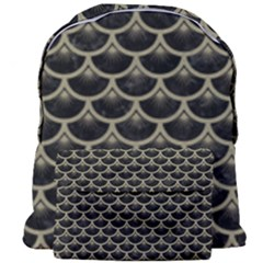 Scales3 Black Marble & Khaki Fabric (r) Giant Full Print Backpack
