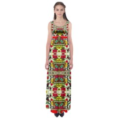 Chicken Monkeys Smile In The Floral Nature Looking Hot Empire Waist Maxi Dress