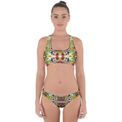 Chicken Monkeys Smile In The Floral Nature Looking Hot Cross Back Hipster Bikini Set