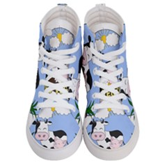 Friends Not Food   Cute Pig And Chicken Men s Hi Top Skate Sneakers