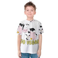Friends Not Food   Cute Pig And Chicken Kids  Cotton Tee