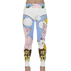 Friends Not Food   Cute Pig And Chicken Classic Yoga Leggings