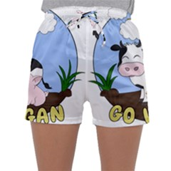 Friends Not Food   Cute Cow, Pig And Chicken Sleepwear Shorts